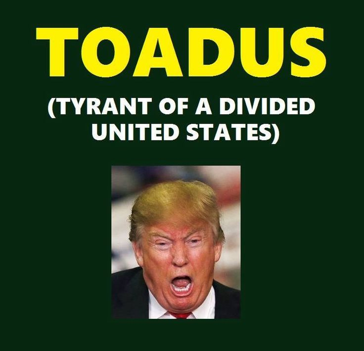 Henceforth for all 65 Million plus voters of good conscience, Herr Gröpen-Fuhrer Drumpf shall be referred to as TOADUS instead of POTUS. #NeverNormalizeTrump #TheResistance www.RefuseFascism.org www.IndivisibleGuide.com