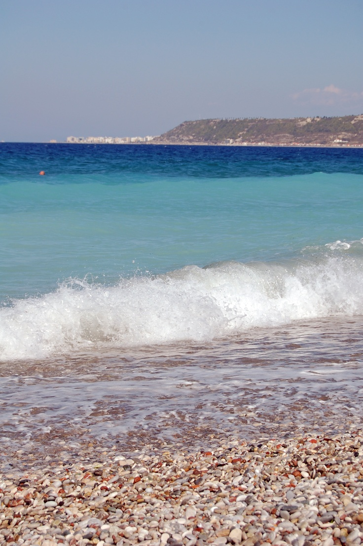 View of Rhodes Old Town from the beach.    #Beach #Rhodes #Holiday