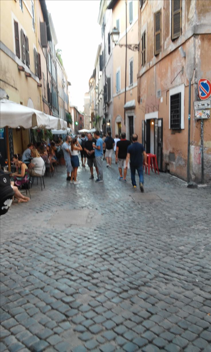 Another view of the street we stayed in in Trastevere  Rome. It was a brilliant spot.