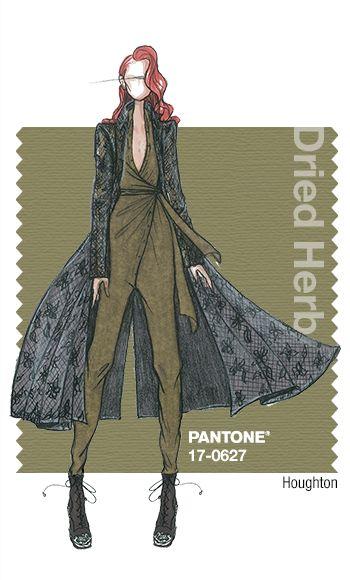Houghton in Pantone Dried Herb - FALL 2015 PANTONE's FashionColorReport