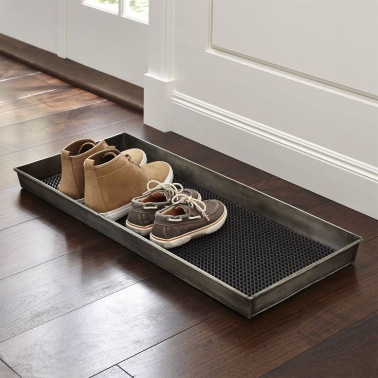 Need a space to wipe your boots? Crate and Barrel has a variety of door mats and boot trays that are perfect for indoor or outdoor use. Order online.>