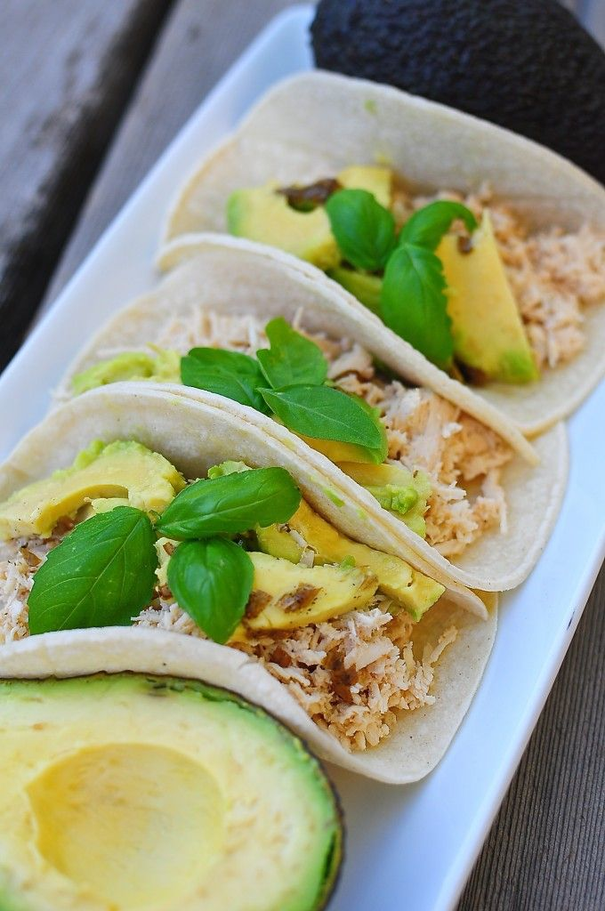 Lime Basil Chicken Tacos | The Scent of Oranges