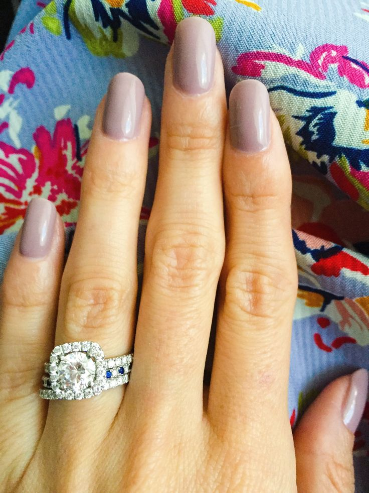 DND gel polish - Melting Violet. Love this grayish purple color. Love the ring too!