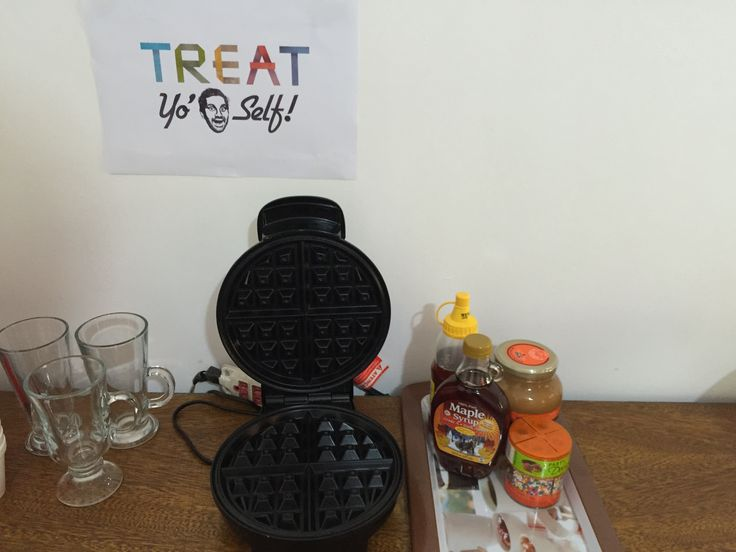 Waffle station - Treat Yo' Self Parks and Recreation Party