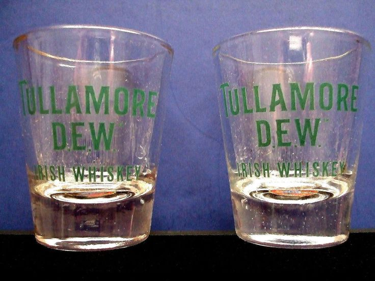Set Of 2 Tullamore Dew Irish Whiskey Shot Glasses 6 00