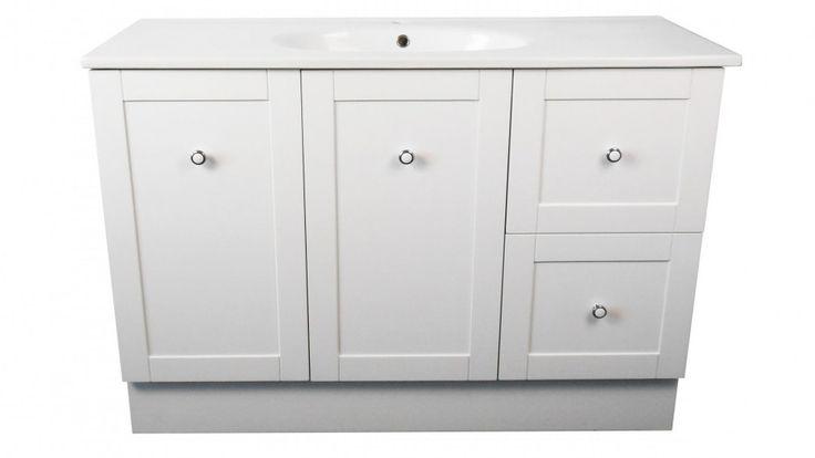 Ledin Hoxton 1200mm Vanity with Orion Top - White - Bathroom Vanities - Vanities & Basins - Bathroom, Tiles & Renovations   Harvey Norman Australia