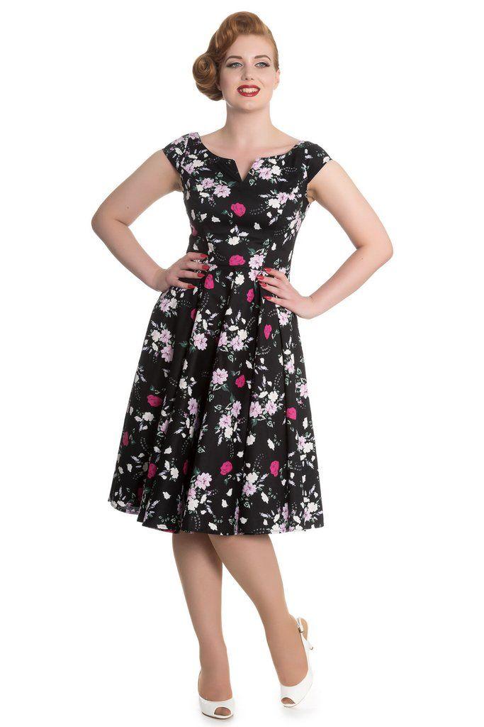 Hell Bunny Belinda Black Dress
