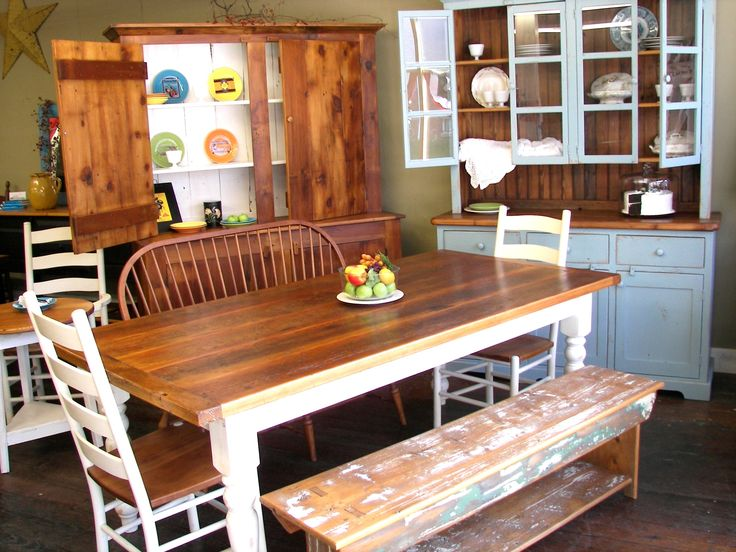 Just a small selection of our custom-made barn wood furniture - We use wood