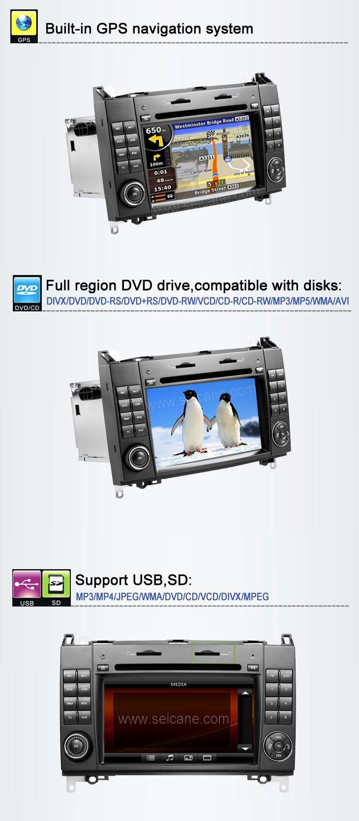Tableau de Bord voiture DVD système navigation GPS stéréo pour Mercedes-Benz A Class W169 avec Radio TV Bluetooth Ipod