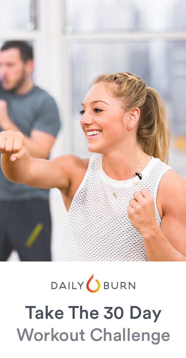 Get a 30-minute, total-body workout every day with Daily Burn 365. Our friendly, experienced trainers will lead you through workouts for all fitness levels. Watch live at 9AM ET, or on-demand for 24 hours. Start your 30-day free trial and see what you can do in one month.