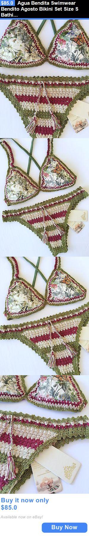 Women Swimwear: Agua Bendita Swimwear Bendito Agosto Bikini Set Size S Bathing Suit Colombia BUY IT NOW ONLY: $85.0