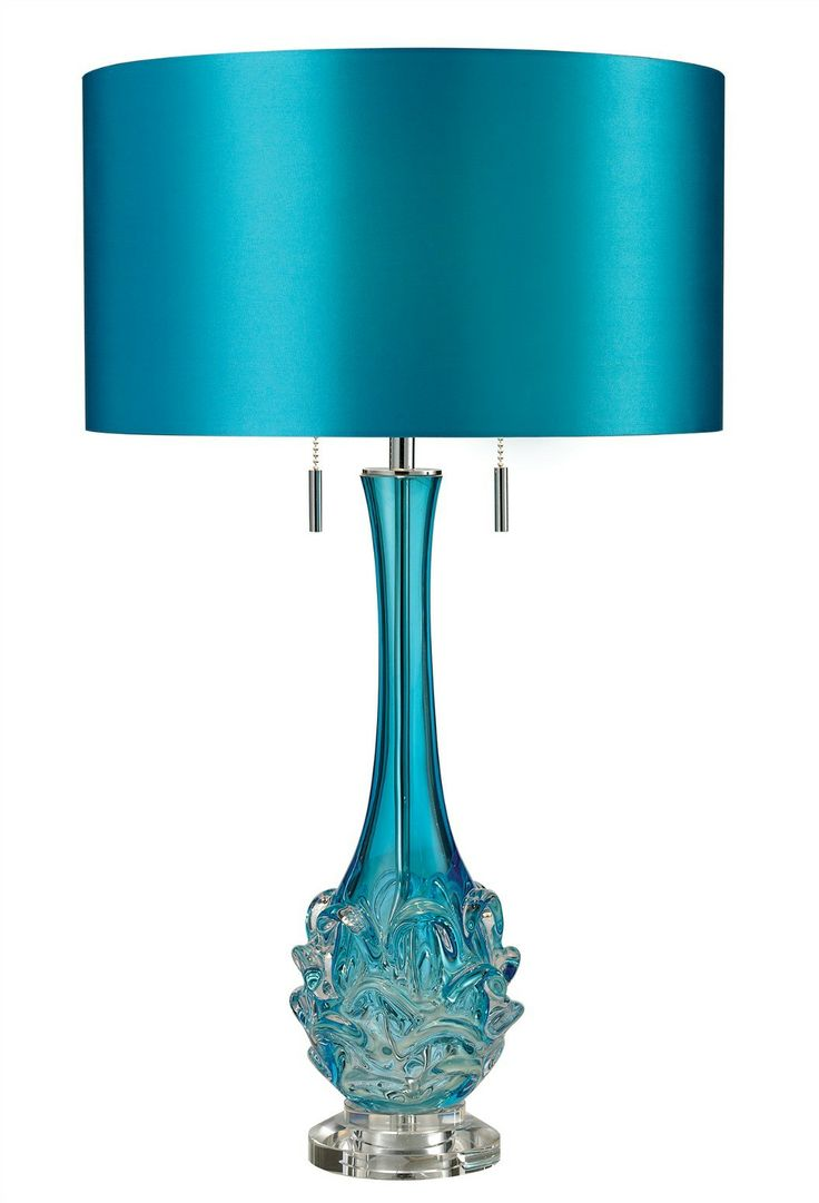 Wildwood brass and crystal beads buffet - Vignola Blue Table Lamp Features Blown Glass In White Or Blue Faux Silk Hardback With Blue Green Base Two 60 Watt 120 Volt Medium Base Incandescent Bulbs