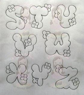 Resultado de imagen para Moldes de letras con flores'