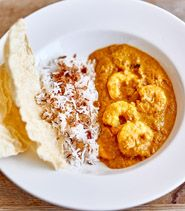 Coconut prawn curry in Rick Stein's India
