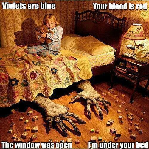 This made me laugh- everyone has that monster that used to be under their bed, even if it was only for one night.