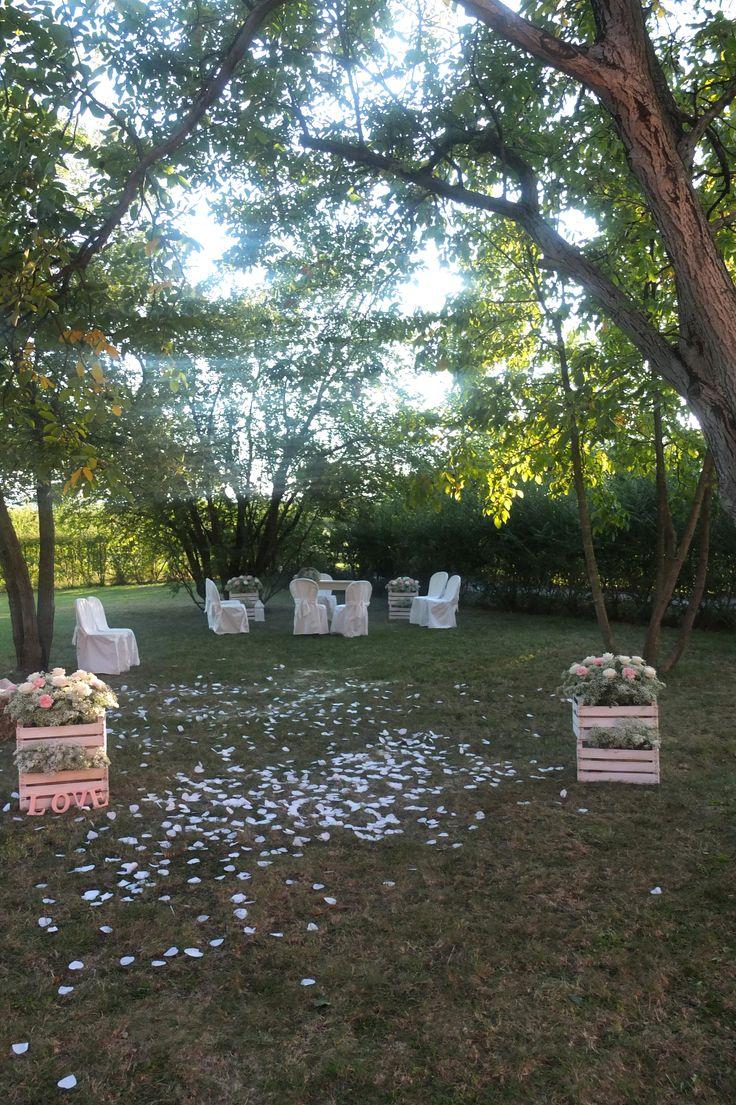 Giardino dopo il rito civile, presso Corte Dei Paduli - Wedding Location - Reggio E., Italy. www.deipaduli.org