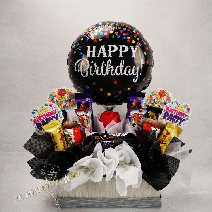 Chocolate balloon flower gift box 3 flower gift balloon