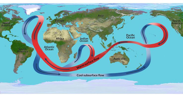 CONVEYOR BELT Rising temperatures could shut down the Atlantic Ocean current (depicted here) that helps warm northwestern Europe, a new simulation shows. ~~ JPL-Caltech/NASA
