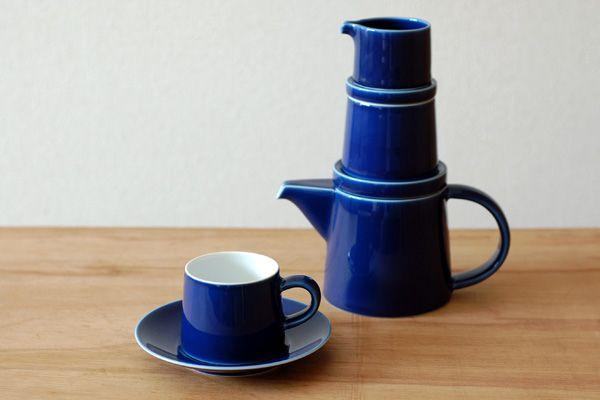 白山陶器 M型 カップ&ソーサー ブルー | monsen