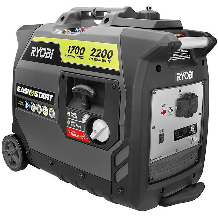 Ryobi 2 200 Starting Watt Gray Gasoline Powered Digital