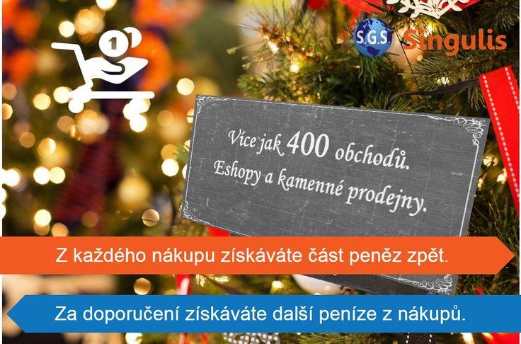Vánoční dárky a k tomu část z útraty zpět? JASNĚ Emotikona smile.  Se Singulis je to snadné.  Výhody u více jak 400 obchodů a eshopů.  A co je ještě?  Z každého nákupu vašich přátel a známých, které přivedete do programu, získáváte peníze a pozor, opakovaně.  >>> www.singulis.cz <<<