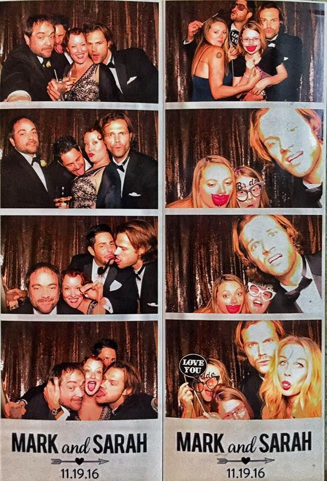 Just Jared Padalecki ‏@Team_SamW   Looks like Jared had lots of fun at Mark's wedding photo booth