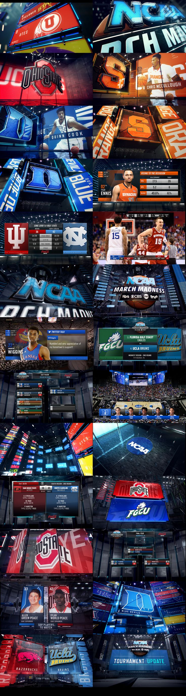concept and design for the march madness ncaa 2015.done trough King and Country