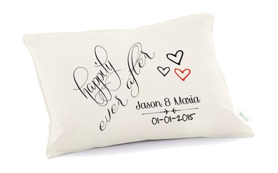 Happily ever after pillow 2nd anniversary pillow by Tulito on Etsy