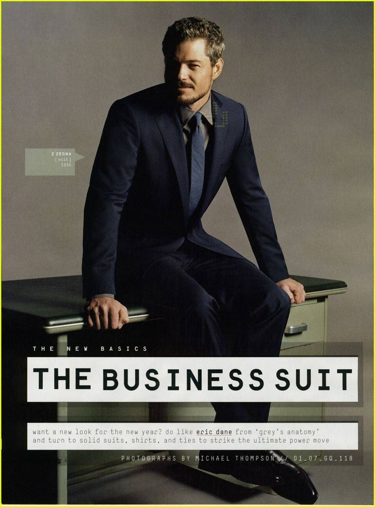 McSteamy Suits Up For GQ