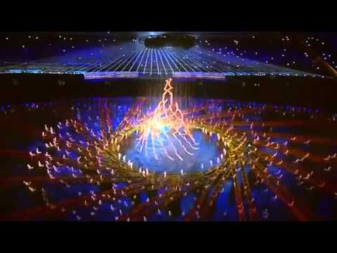 Amazing performance - opening ceremony of the Youth Olympic Games in Nanjing - La Fura dels Baus - YouTube