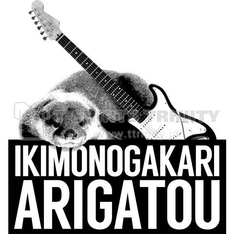 いきものがかり ありがとう    ギターとカワウソを添えて感謝の気持ちを伝えます。  いきものがかりありがとう!