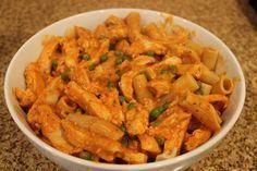Ma recette de rigatoni sauce crémeuse au poulet | Maigrir Sans Faim