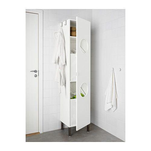 LILLÅNGEN Laundry cabinet, white 15 3/4x15x76 3/4