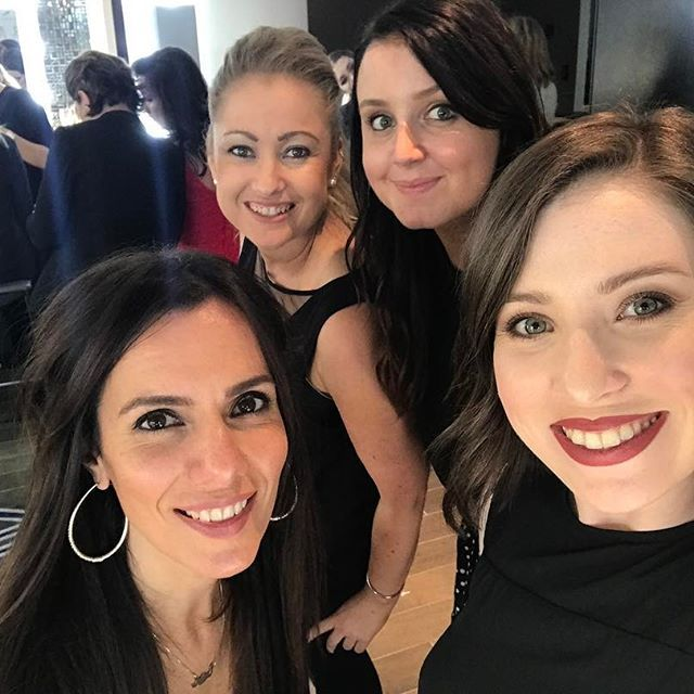 Watch all the great work that Lemai, Samantha, Sarah and Louise did today for the FFA Dolan Warren Awards on fox sports tonight on the red carpet ❤️⚽️  .  .  .  .   #dolanwarren #dolanwarrenawards #Skpproteam #squad #squadgoals #selfie #work #worklife #team #heart #love #hair #hairstylist #barber #glitter #quotes