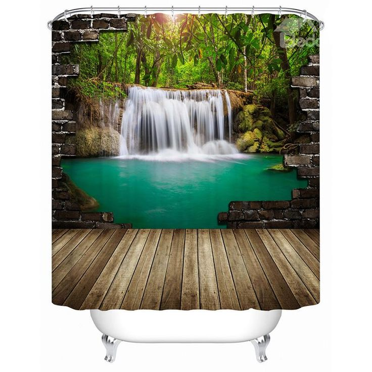peaceful ideas waterfall showers. High Quality Peaceful Pastoral Waterfall 3D Shower Curtain  bathroom bath shower curtain 122 best Curtains images on Pinterest Eco friendly