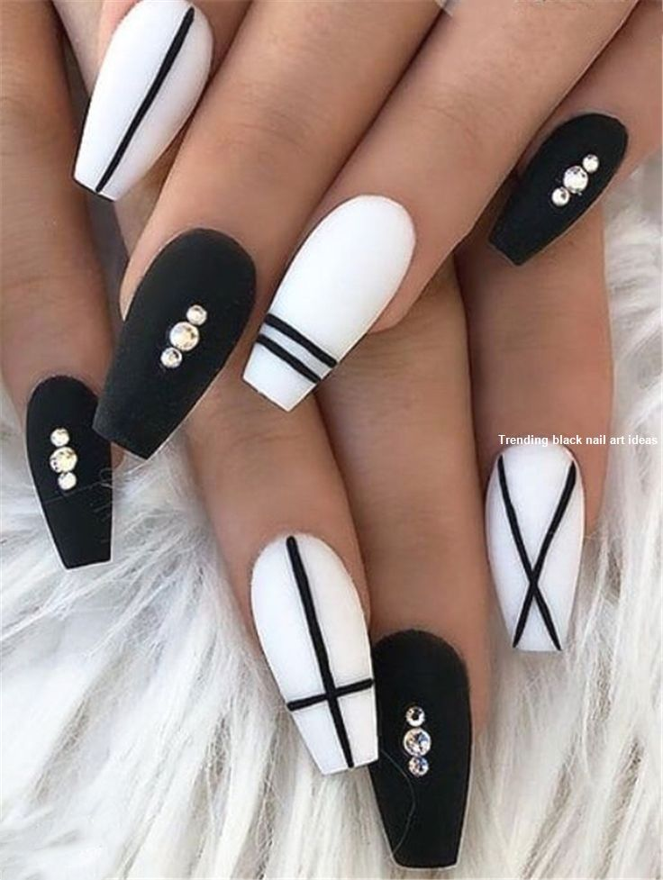 20 Simple Black Nail Art Design Ideas Blacknails Fall Acrylic Nails Best Acrylic Nails Black Coffin Nails