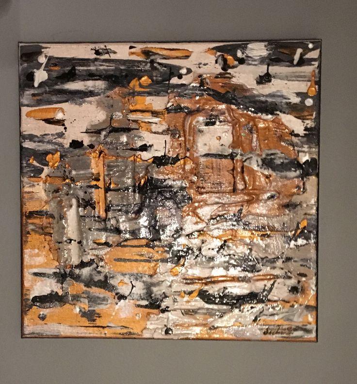 La cité d'or : toile abstraite a l'acrylique, pâtes et vernis #art #passion #déco #décoration #artiste