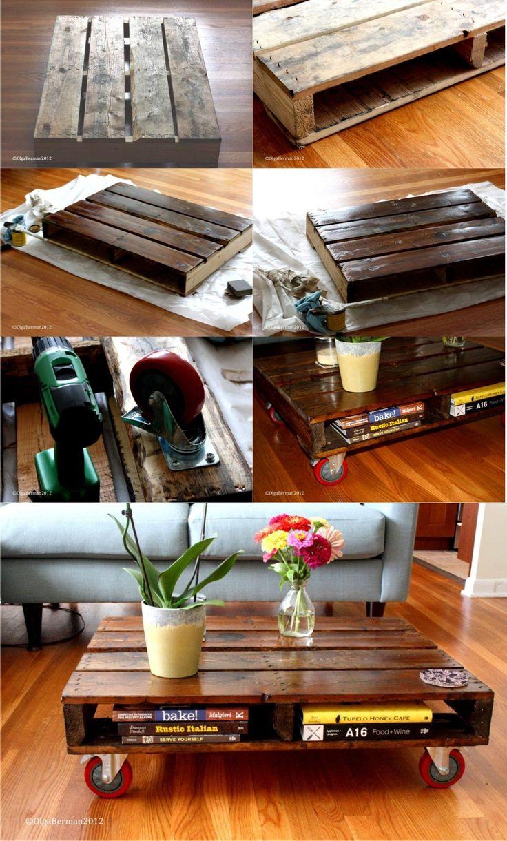 Mesita diy reciclando pal diy muebles de madera recuperados muebles r sticos modernos y - Muebles rusticos modernos ...