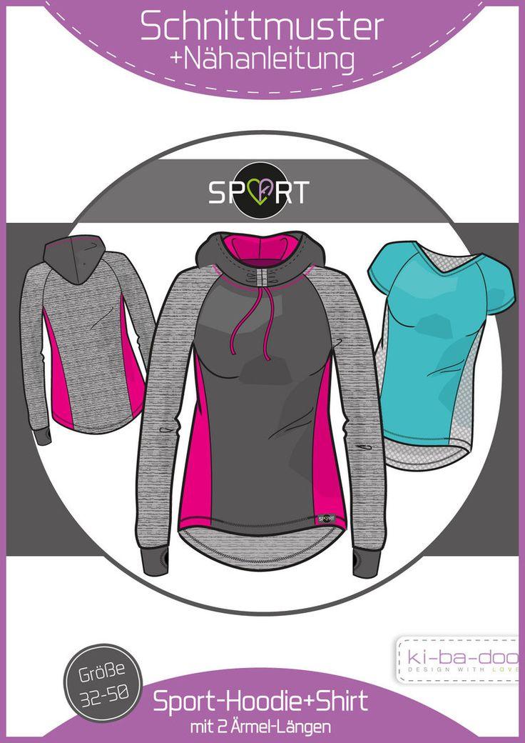 Ebook Sporthoodie/-Shirt Damen - Schnittmuster und Anleitung als PDF, versandkostenfrei