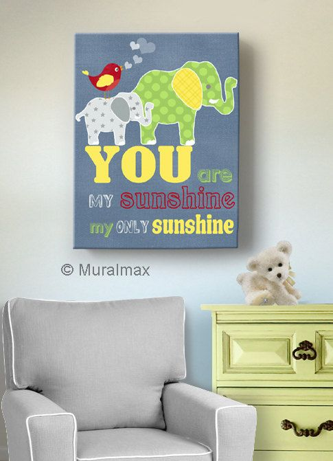You are My Sunshine Canvas Art Prints for Nursery or by MuralMAX, $51.00