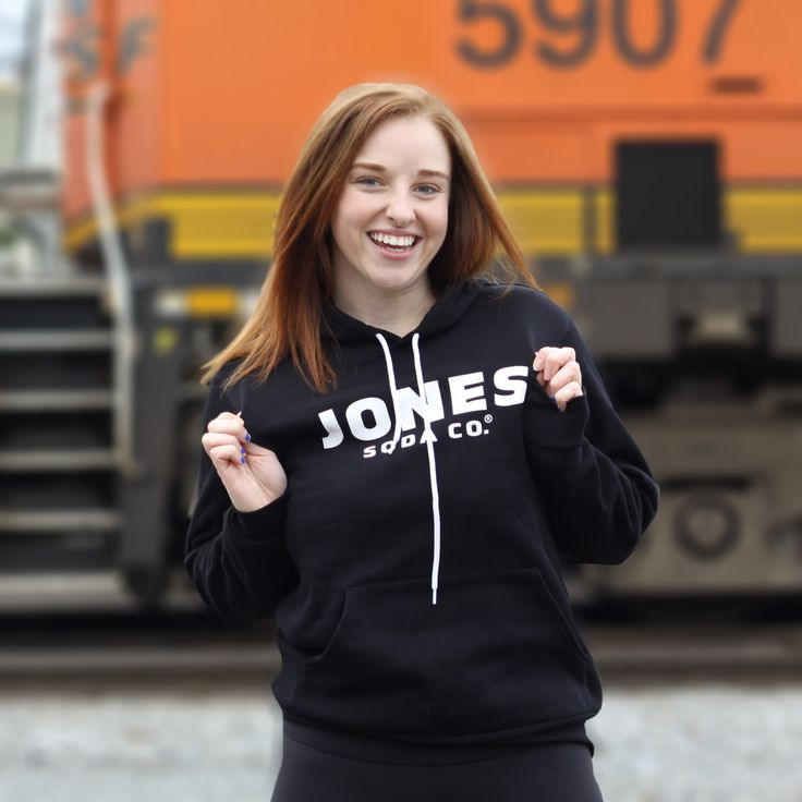Jones Soda Black Pull Over Hoodie