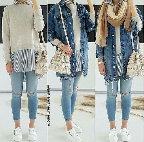 How to style your denim jacket – http://www.justtrendygirls.com/how-to-style-your-denim-jacket/