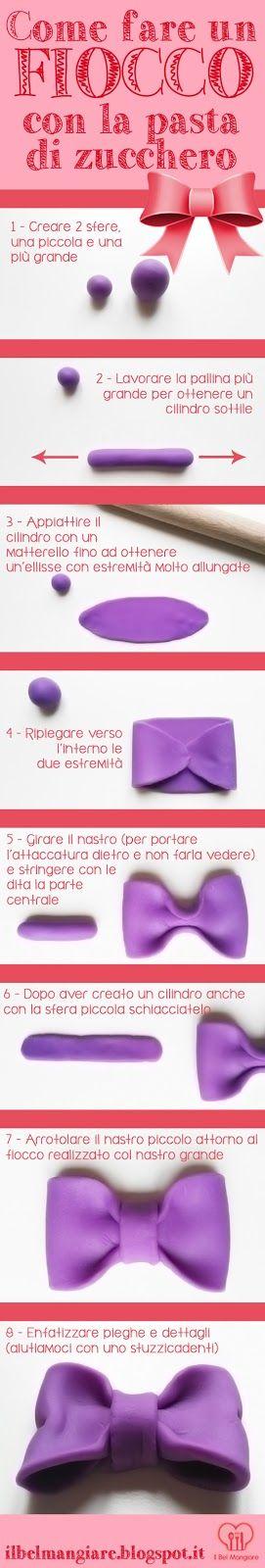 #howto Il Bel Mangiare: Creare un fiocco con la pasta di zucchero - tutorial