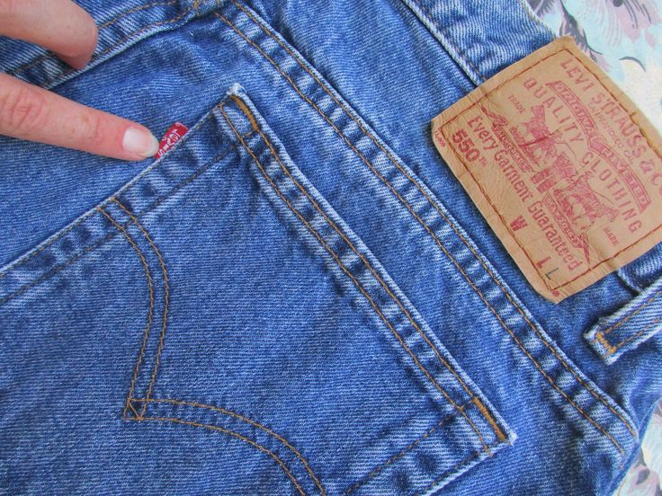 Levis 550 Jeans Womens 1990s Vintage Red Tab Relaxed Fit Tapered Leg High Waist Mom Jeans Med Blue Wash 90s Fashion Sz 16L by GeekGirlRetro on Etsy