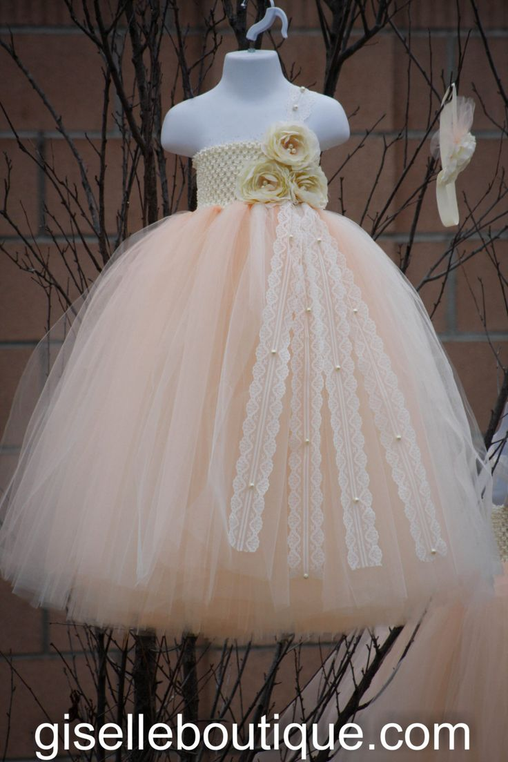 Flower+Girl+TuTu+Dress.Peach+Vintage+Lace+with+by+giselleboutique,+$115.00