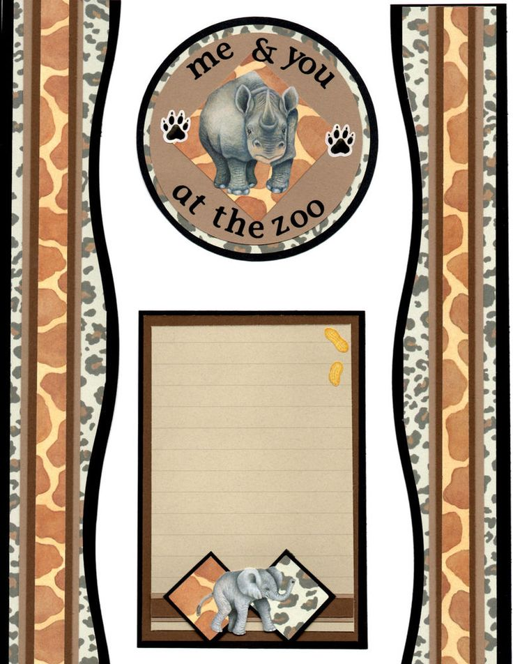 Premade Scrapbook Border W/Creative Memories-ZOO