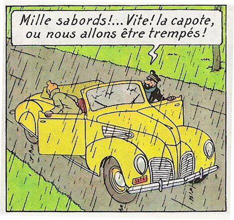 La bande dessinée et lautomobile : Partie 1, Tintin. Lincoln auto Tintin • Tintin, Herge j'aime