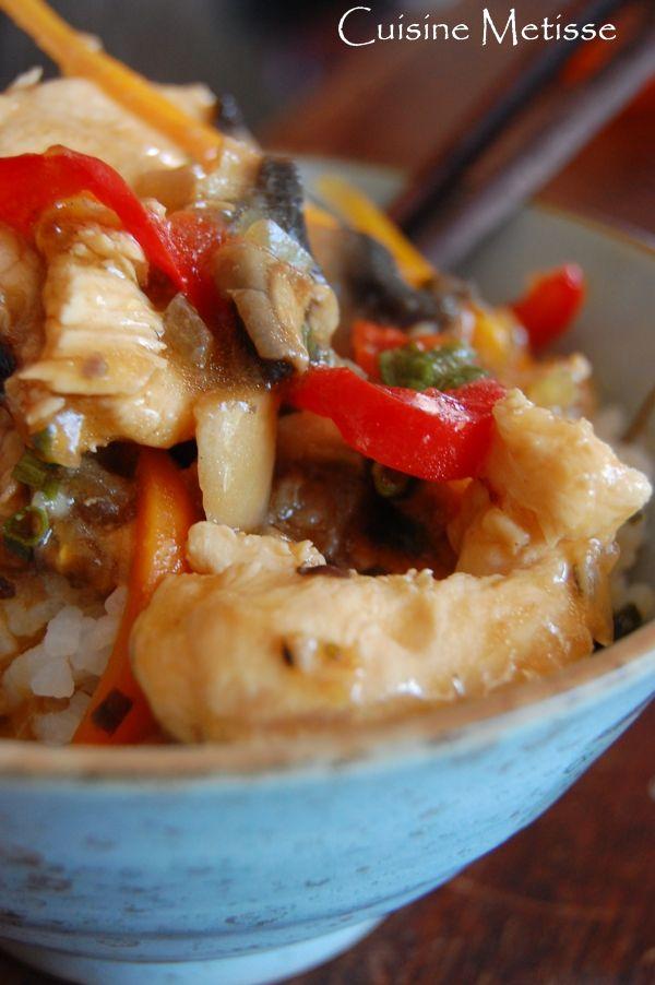 Poulet «façon Mongole» – Poulet sauté au Xao Tsing et petits légumes | Cuisine Metisse