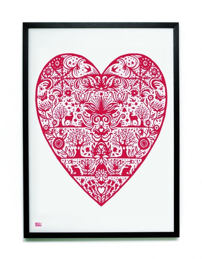 Bold and Noble My Heart Print, $74.95. A sweet, hand-pulled screen print on recycled paper that does a lovely job of expressing your love!