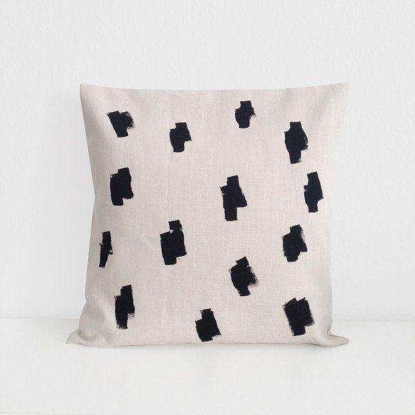 Kissenbezüge - Kissenbezug mit weißem Muster, 40x40 - ein Designerstück von…